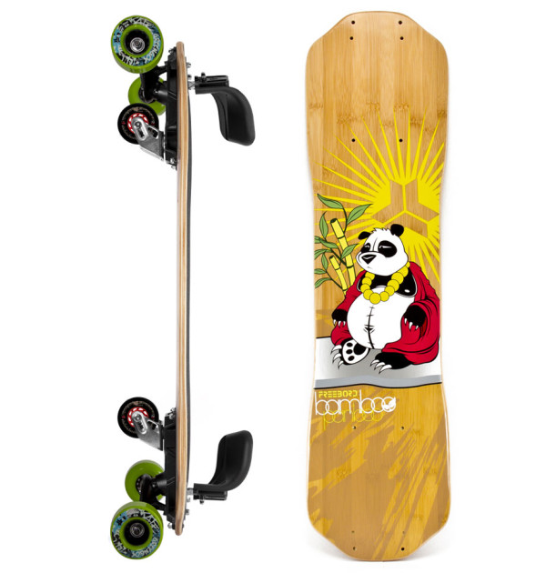 FREEBORD PANBOO BAMBOO COMPLETE greengo edge wheels