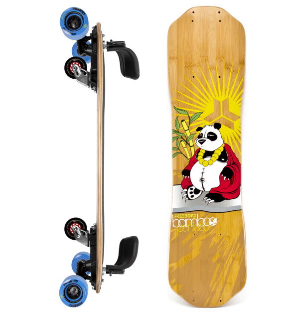 Freebord bamboo Complete SideProfile Boro Panboo