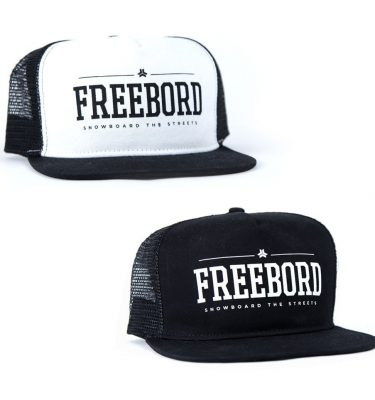 Freebord Trucker Hats Caps black and white