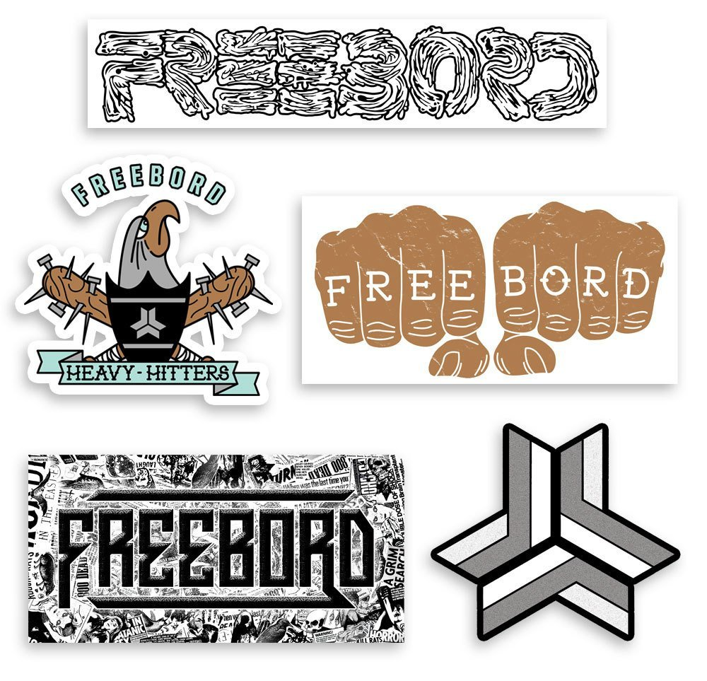 NEW FREEBORD STICKER PACK 2015