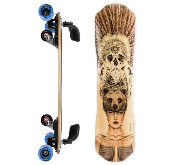 Freebord Totem Bamboo Complete DaBlues Edge wheels