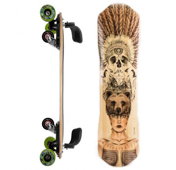 Freebord Totem Bamboo Complete GREENGO Edge wheels