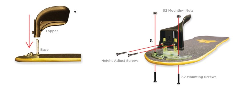 Freebord S2 Bindings assembly diagram