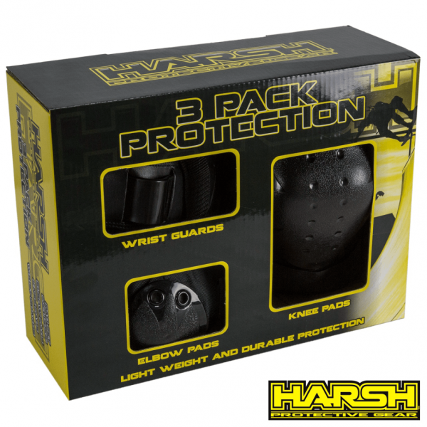 harsh combo pack knee, elbow and wrist guards