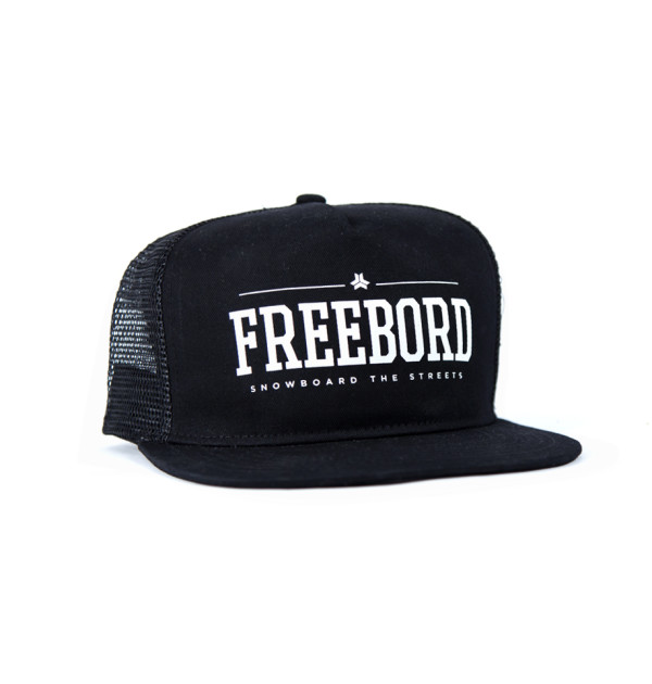 Freebord trucker black cap hat