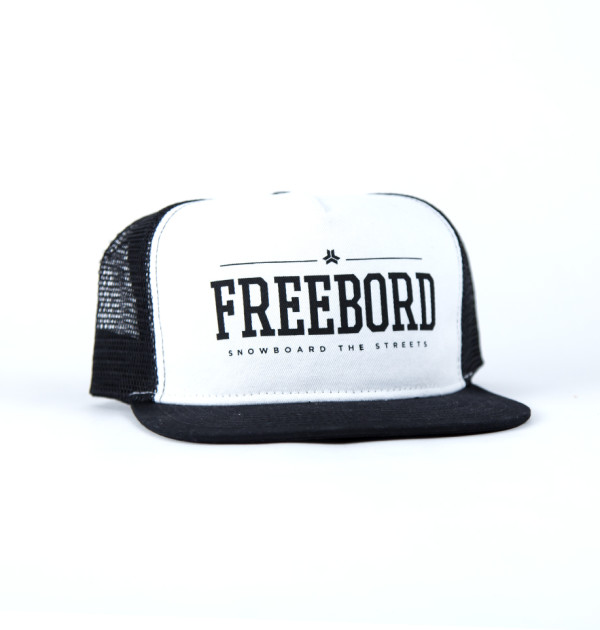 Freebord trucker white cap hat