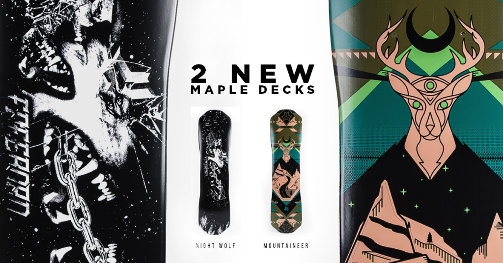 Freebord new Maple decks Night wolf and mountaineer